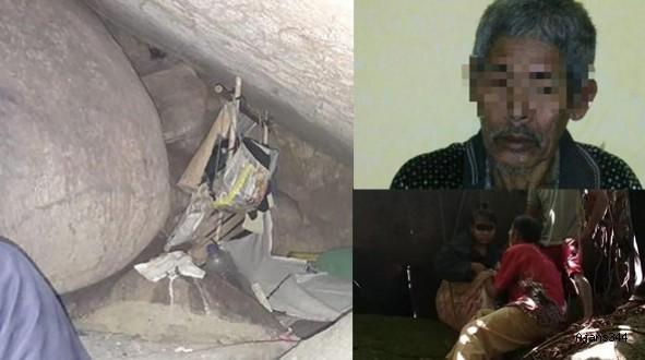 15 yıl mağarada tecavüz etti!