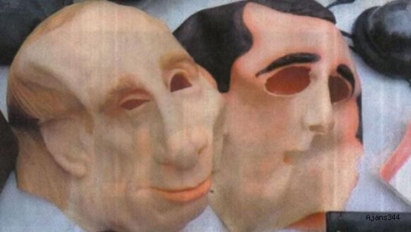 2 Türk'e Putin maskeli gasp!