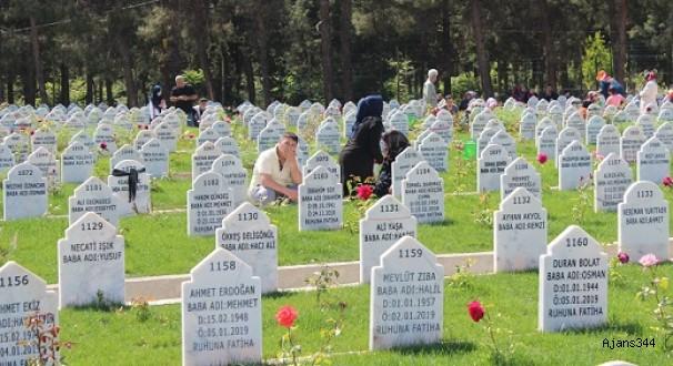 Anneler Günü'nde mezarlığa geldiler