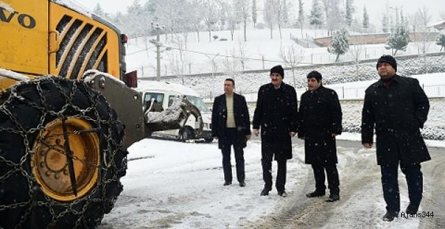 Başkan Okay'dan 'kar' teftişi
