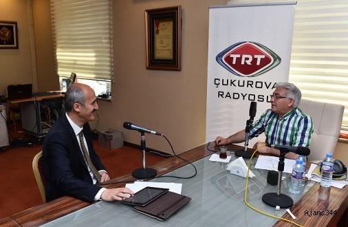 BAŞKAN OKAY TRT ÇUKUROVA'NIN KONUĞU OLDU