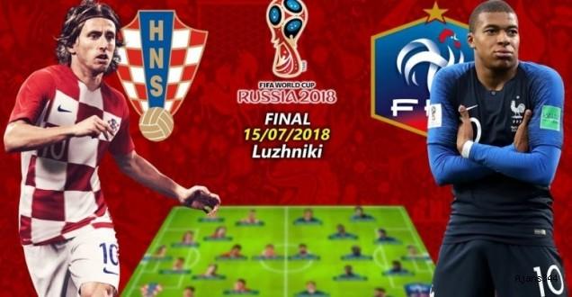 Finalin adı belli oldu: Fransa-Hırvatistan