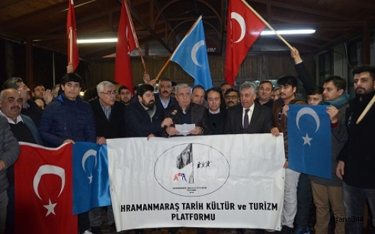 Kahramanmaraş'ta Doğu Türkistan Çığlığı