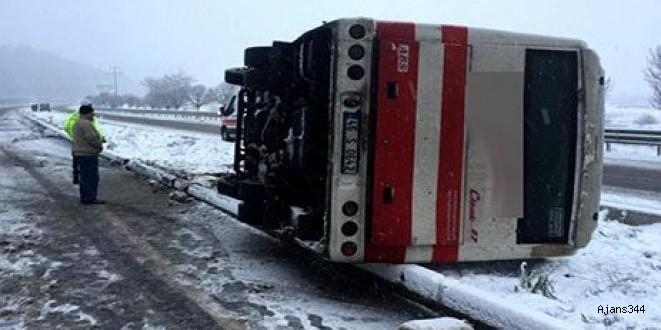 Kahramanmaraş'ta işçi servisi kaza yaptı: 9 yaralı