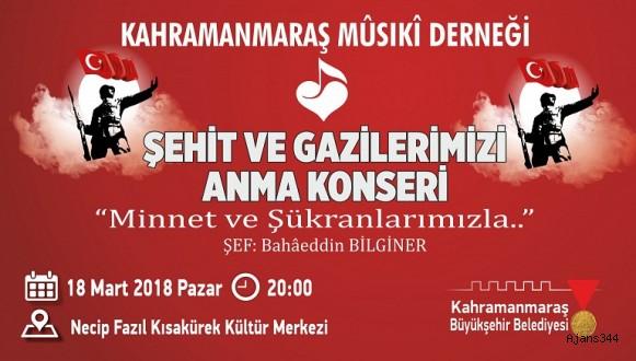 KMD'DEN ŞEHİT VE GAZİLERİ ANMA KONSERİ