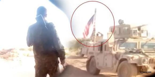 Münbiç'te YPG'li teröristler ile ABD askerleri yan yana