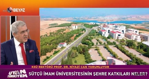 Rektör Can, Beyaz TV'de KSÜ'yü tanıttı