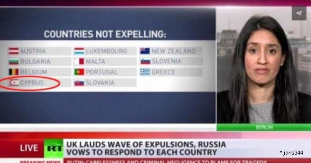 Rus Televizyonu KKTC Bayrağını Koydu, Rumlar Çıldırdı