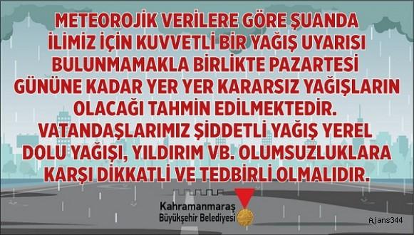 """""""ŞİDDETLİ YAĞIŞLARA KARŞI DİKKATLİ OLALIM"""""""
