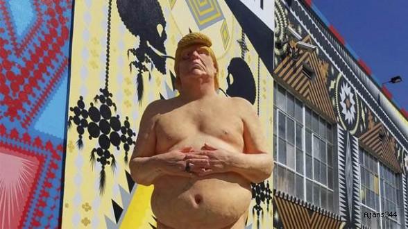 Trump'ın çıplak heykeli açık arttırmayla satılacak