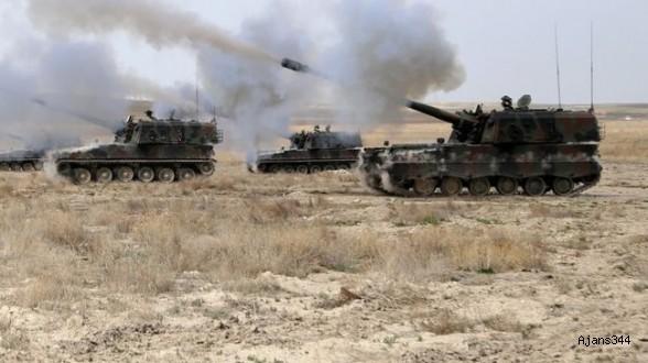 TSK, PYD mevzilerini vurmaya başladı!
