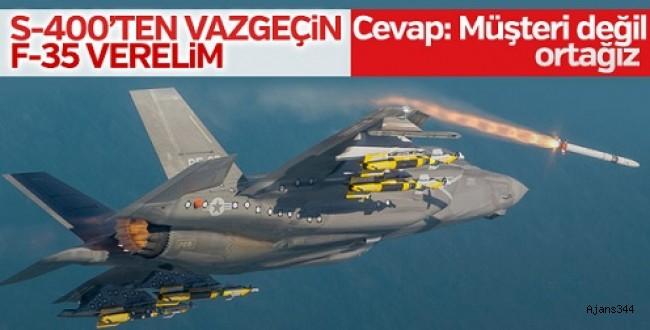 Türkiye'den ABD'ye füze çıkışı! S-400 yerine ''F-35''